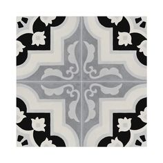 Pack of 12 Taza Black and Grey Handmade Cement and Granite Moroccan 8 x 8-inch Floor and Wall Tile (Morocco) - 17915162 - Overstock.com Shopping - Great Deals on Moroccan Mosaic Accent Pieces