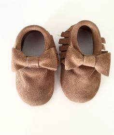 Skid Proof Leather Moccasins | 0-36 Months
