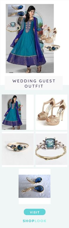 Chapter 3 - Neha created on ShopLook.io featuring , , , ,  perfect for Wedding Guest.
