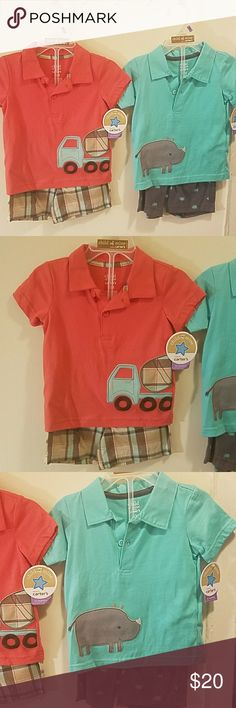 ONE DAY SALE  Size 12 Months Outfits. New! New outfits for 12 month sized baby / toddler boy. Child of Mine by Carter's. Child of Mine by Carter's Matching Sets