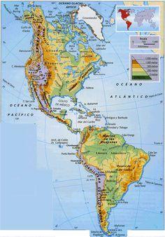 mapa fisico politico del continente americano con nombres - Buscar con Google Free Time, Maputo, Rio, Activities, Photography, Google, Plant Cell, Frases, Continents