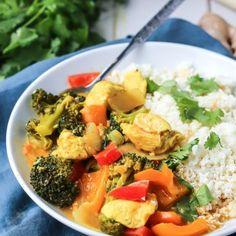 1-Pot Thai Coconut Chicken Curry [ Paleo, Whole30 ] • Fit Mitten Kitchen