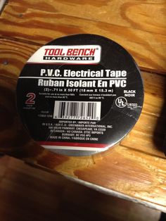"Electrical Tape .71""x 50ft Black PVC (2 Pack) NEW IN PACK #TOOLBENCH"