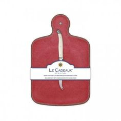 Le Cadeaux Allegra Red Cheese Board with Knife