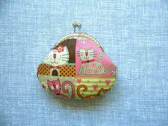 Cute Little Kitty  Handmade Coin Purse  Birthday by Cutefairybear, $16.00