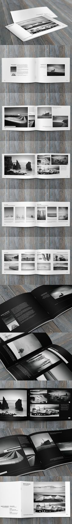 Minimalfolio Photography Portfolio A4 Brochure by Przemyslaw S, via Behance