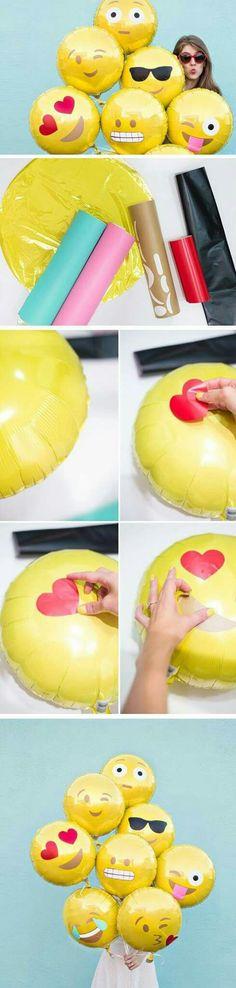 Diy emoji ballons