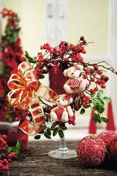 Arranjo de Natal - DIY, Christmas, Craft