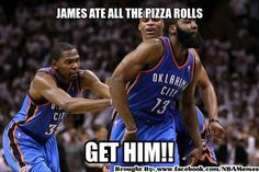 Kevin Durant James Harden Pizza Roll Meme 2 - Funny Sports - - Kevin Durant James Harden Pizza Roll Meme 2 The post Kevin Durant James Harden Pizza Roll Meme 2 appeared first on Gag Dad. Funny Nba Memes, Funny Basketball Memes, Basketball Quotes, Basketball Pictures, Basketball Motivation, Basketball Stuff, Basketball Birthday, Jordan Basketball, Football Memes