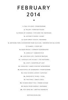 Playlist-February-2014