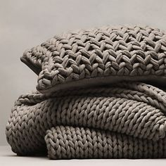 Chunky Hand Knit Throw & Cushion Cover