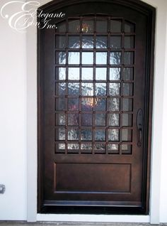 Custom wrought iron front door. Decor, Doors, Storage, China Cabinet, Single Doors, Wrought, Furniture, Home Decor, Wrought Iron Front Door