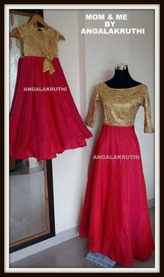 Mom and Me design by Angalakruthi in Bangalore and daughter matching dresses Mother Daughter Fashion, Mother Daughters, Mom Daughter, Mothers, Twin Outfits, Mommy And Me Outfits, Matching Family Outfits, Kids Outfits, Anarkali