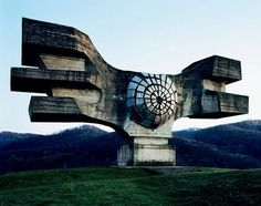 the Yugoslavian government of the 1960s and '70s took an alternative approach to nationalism with a slew of futuristic monuments constructed to commemorate World War II. These avant garde sculptures, now in virtual ruin, are located in present-day Croa tia, Ser bia, Slove­nia and Bosnia.