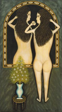 Morris Hirshfield. Girl in a Mirror. 1940