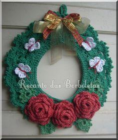 As Receitas de Crochê: Guirlanda de Natal feita em crochê