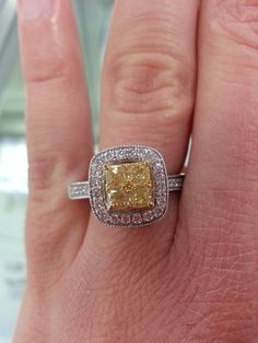 Canary diamond ring! My dream ring!!!