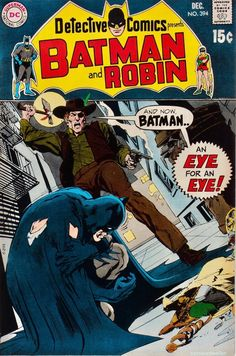 Detective Comics Cover art: The adroit Neal Adams! Batman Comic Books, Comic Book Heroes, Comic Books Art, Comic Art, Book Art, Batman And Batgirl, Batman Comics, Dc Comics, Robin Comics