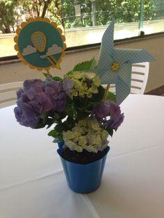 Festa Balao Cata-vento enfeite de mesa scrap