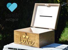 "Personalizowany kufer na koperty ślubne""RUSTIC box II"""