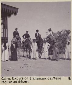 Wilhelm von Geijer, Walther and Wilhelmina von Hallwyl and Ida Uhse going to Mena House Hotel by camel. Egypt, 1900. From https://hallwylskamuseet.culturalspot.org