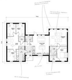 LB Optimal 161 Sadel - Hus som passar i alla miljöer Floor Plan Drawing, House Layouts, House Goals, House Floor Plans, Planer, Building A House, Sweet Home, New Homes, Villa
