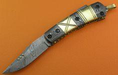 Custom 100 Handmade & Forged Damascus Steel Brass by SanaCutlery, $49.99