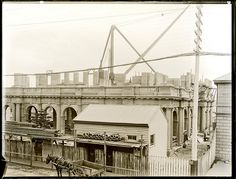 Construction of Newcastle Post Office, Hunter and Bolton Streets, Newcastle, NSW, 1 May 1902