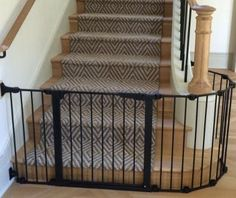 Elegant Black Baby Safety Gate For Stairs Design Ideas