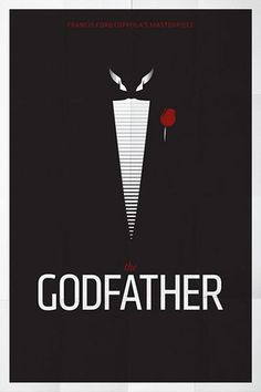 The Godfather - 50 Minimal Movie Posters - The Macho Nacho Best Movie Posters, Minimal Movie Posters, Minimal Poster, Cinema Posters, Movie Poster Art, Film Posters, The Godfather, Godfather Series, Love Movie