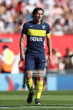 Fernando Gago of Boca Juniors looks on during the Argentine Primera Division match between River Plate and Boca Juniors at the Estadio Monumental Antonio Vespucio Liberti on December 2016 in Buenos Aires, Argentina. Messi And Neymar, Soccer Pictures, Football Players, Division, December 11, River, Grande, Sport, About Football