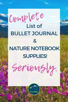 The ULTIMATE Bullet Journal Supply List and Nature Notebook Supply List! From the best products you need, to how to keep them all organized, this is your complete guide to bullet journal supplies! Adventure Holiday, Adventure Travel, Cool Journals, Best Pens, Supply List, Nature Journal, Hiking Tips, Travel Videos, Practical Gifts