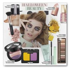 """""""Behind the Mask: Halloween Makeup"""" by jelenalazarevicpo ❤ liked on Polyvore featuring beauty, Giorgio Armani, NARS Cosmetics, Urban Decay, Mavala, Estée Lauder, Clinique and Sephora Collection"""