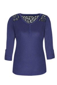 LACE INSET HENLEY