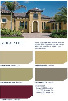 Rich, saturated jewel tones offer a lush, romantic vibe that is balanced by earthy, warm neutrals in the HGTV HOME™ by Sherwin-Williams Global Spice Collection