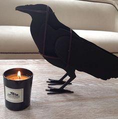 Raven EDGAR by ibride. #crow #raven #ibride #design #interior #decoration #animal #furniture #home #bird #black (photo Atelier Anda Roman) Crow, Raven, Halloween Decorations, Sculptures, Objects, Bird, Boots, Interior, Animals