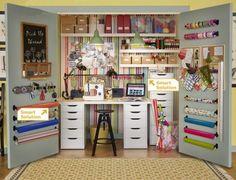 Craft Closet Storage Ideas | ... Crafty Workspace - Storage Ideas from Ikea Closet craft / work space