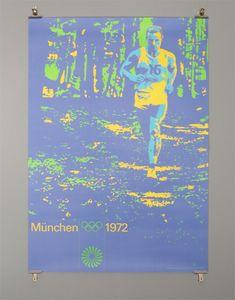 1972 Munich Olympics designed by Otl Aicher, running