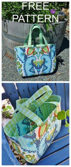 "The Happy Handbag will make you happy, particularly when you see the pdf downloadable pattern is FREE and you only need basic sewing skills to complete this project. This simple handbag uses Bosal in combination with Decor Bond to create a structured bag with simple lines. There is one interior pocket with loop and an option for including a magnetic snap. When finished the Happy handbag is 13"" wide by 9"" high by 3"" deep."