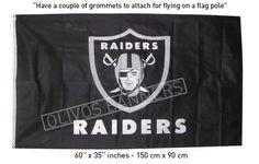 $ 19.99 NEW FLAG banner Los Angeles Oakland Raiders Raider 3'x5' black FREE SHIPPING