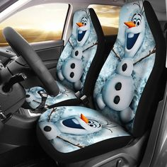 Olaf Snowman Car Seat Covers