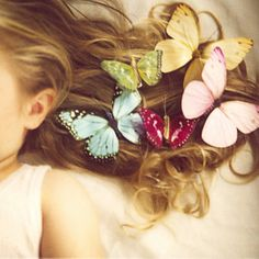 She wore butterflies in her hair by SusannahT, via Flickr