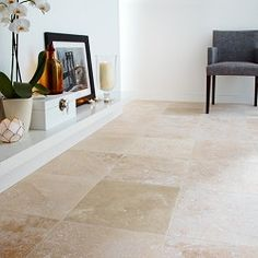 Travertine Honed and Filled Beige....love honed travertine