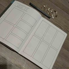So, how did I start? The first thing I did when I drew the new weekly spread is the basic setup. I drew every line which is required for the basic setup. You can see the progress in the pictures below.