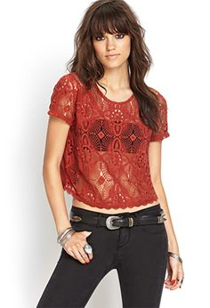 Boxy Crochet Top | FOREVER 21 - 2000069089