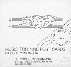 Hiroshi Yoshimura - Music For Nine Post Cards (Cassette, Album) at Discogs Thank You Note Cards, Custom Thank You Cards, Disco Party, Disco Ball, Art Plastique, Personal Photo, Zine, Mood Boards, Invitation Cards