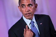 Mancha de lápiz labial pone en aprietos a Obama