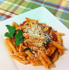 Penne with Vodka Sauce- one of the only ways I'll eat pasta, probably a good thing to learn to make!