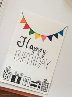 DIY Birthday Cards Ideas Effective Images We Make About Birthday Card . - DIY Birthday Cards Ideas Effective pictures that we offer by handprinting birthday cards A quality - Creative Birthday Cards, Homemade Birthday Cards, Birthday Cards For Friends, Bday Cards, Homemade Cards, Happy Birthday Handmade Cards, Simple Birthday Cards, Diy Moms Birthday Gifts, Husband Birthday Cards