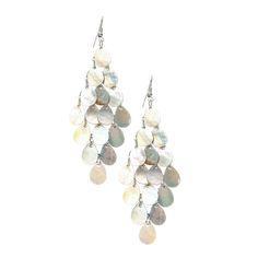 Iridescent Shell Chandelier Earrings